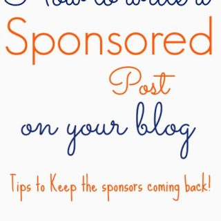 how to write a sponsored post