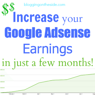 Increase Google Adsense earnings on my blog