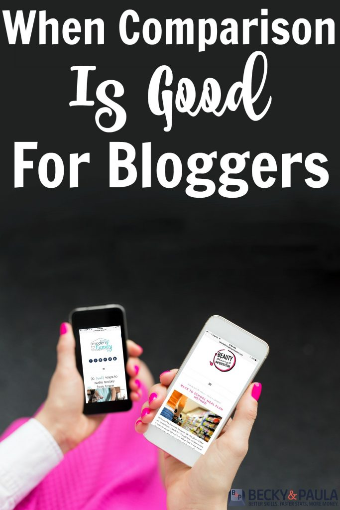 comparison is good for bloggers