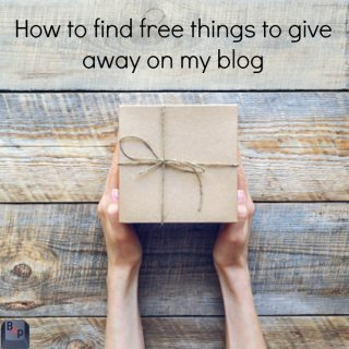 How to find free things to give away on my blog  – 5 tips to help!