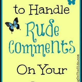 How to Handle Rude Comments on Your Blog