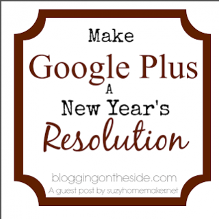 Make google plus a new years resolution