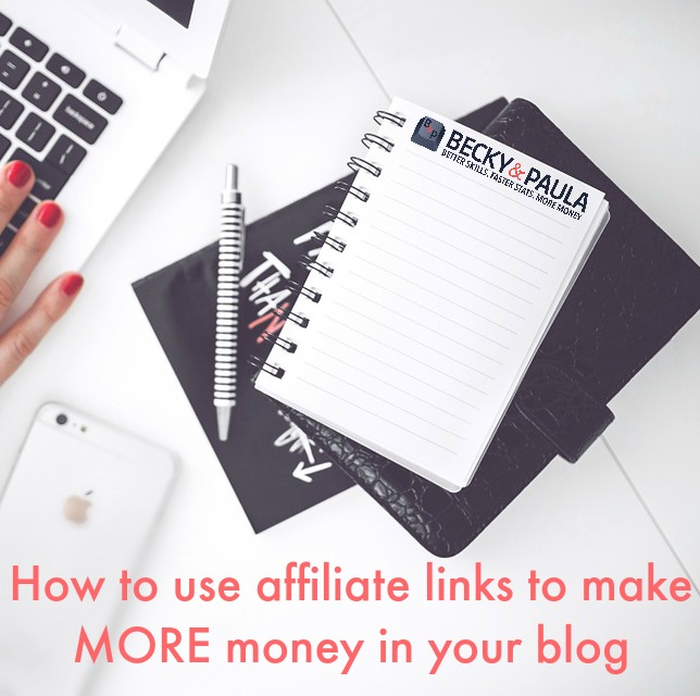 affiliate links in the blog
