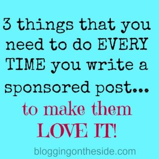 3 things to remember when writing sponsored posts.