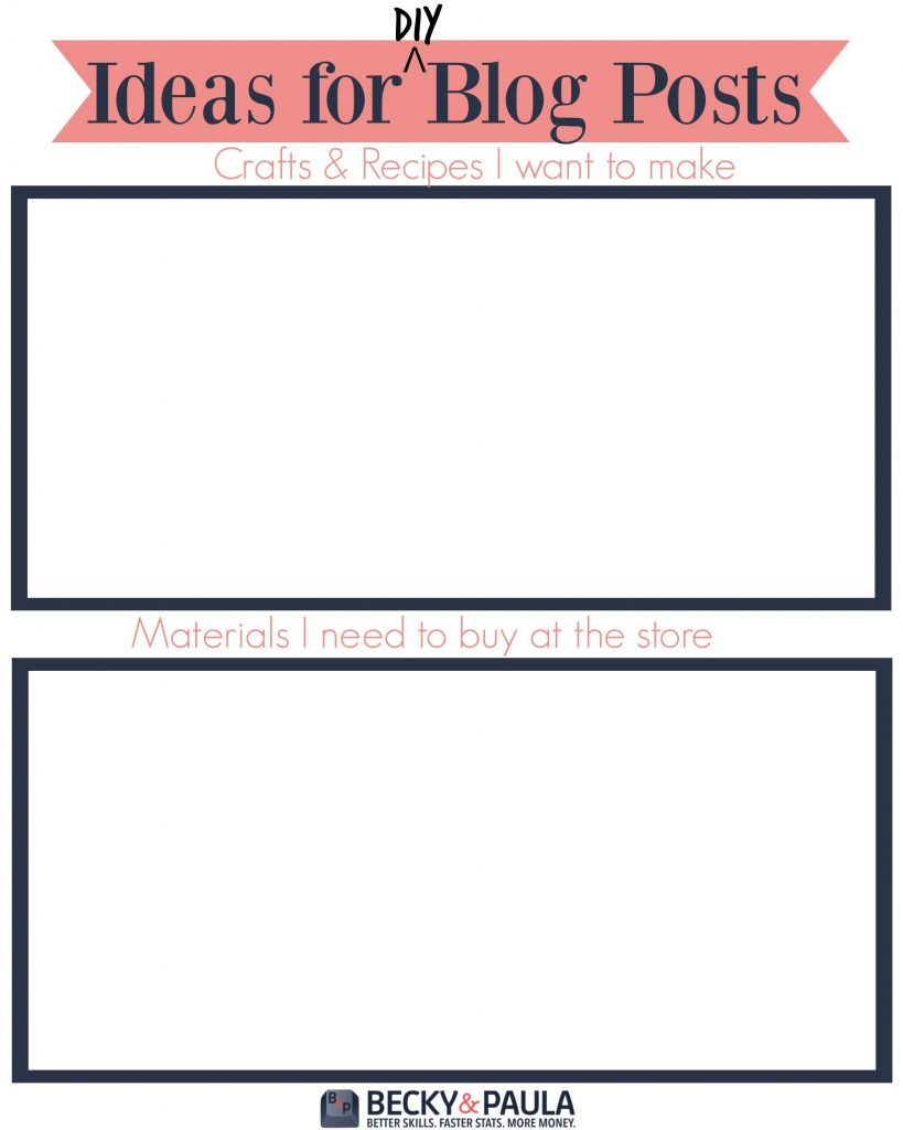 DIY posts printable