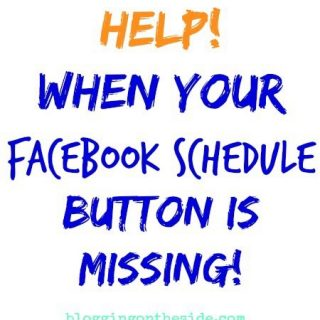 Facebook schedule button is missing  … how to find it.