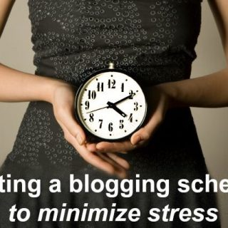 Getting on a blog schedule