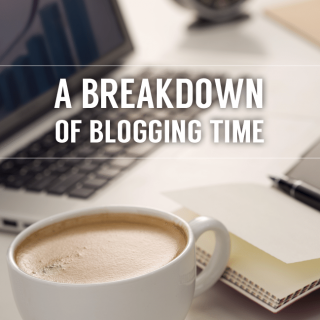 Breakdown of my blogging time:  writing, promoting, networking, etc…