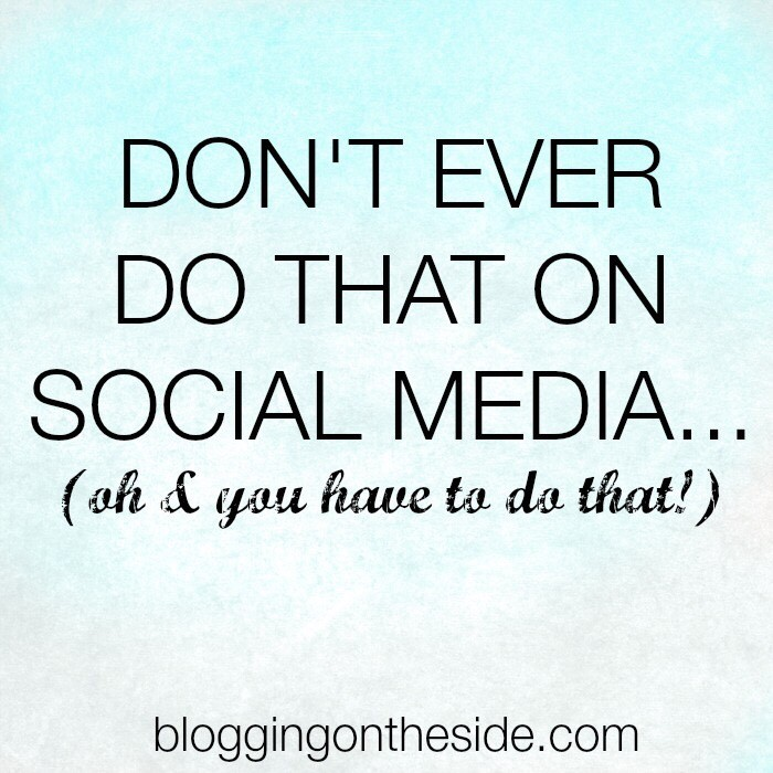 don't do that on social media