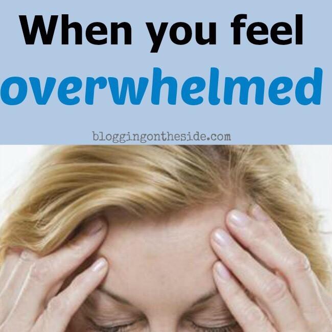 feeling overwhelmed w/ your blog?