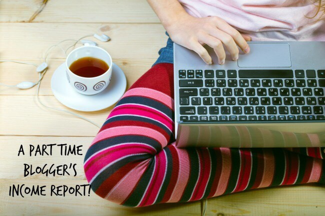 part time bloggers income