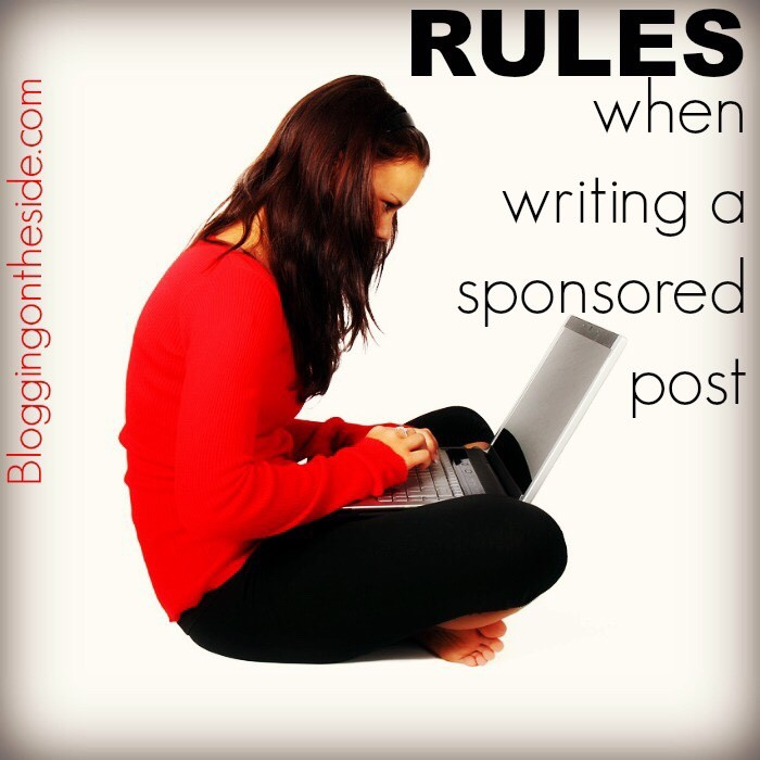 rules for a sponsored post