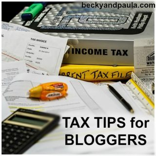 Blogger Tax Tip