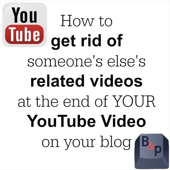 how to get rid of related videos on my youtube video