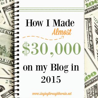 Make $30,000 in a year blogging {blog income report}