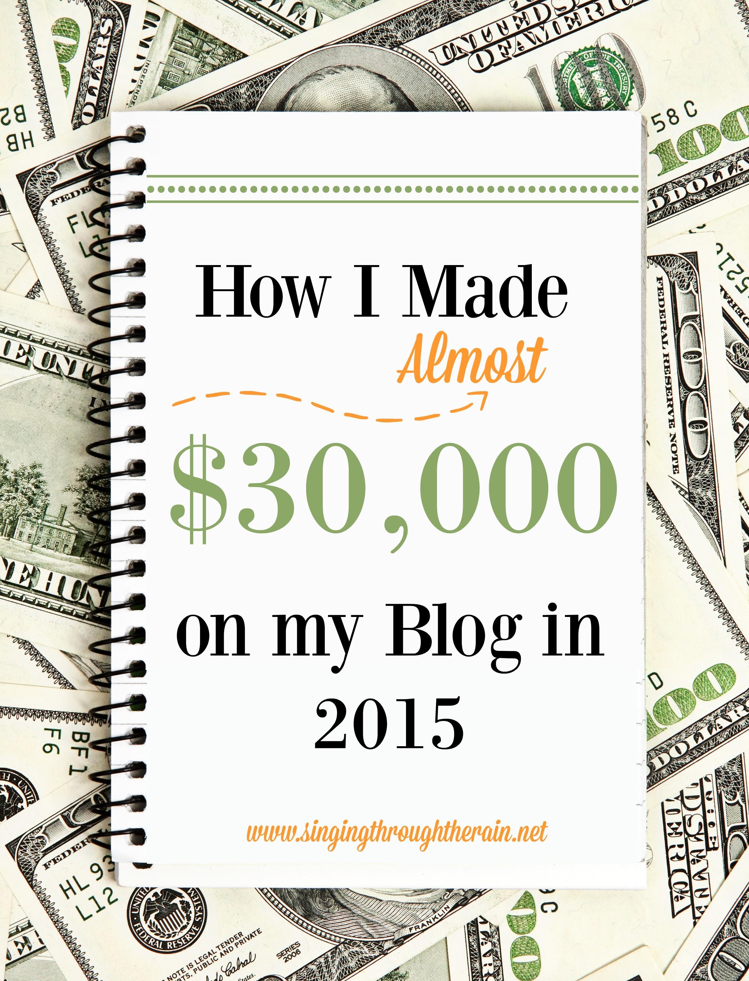 make $30,000 on a blog