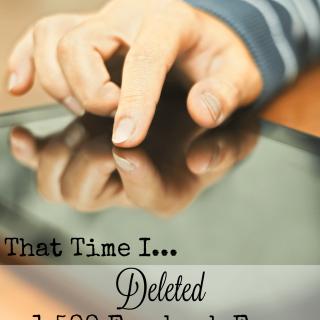 Why I deleted 1500 Facebook fans