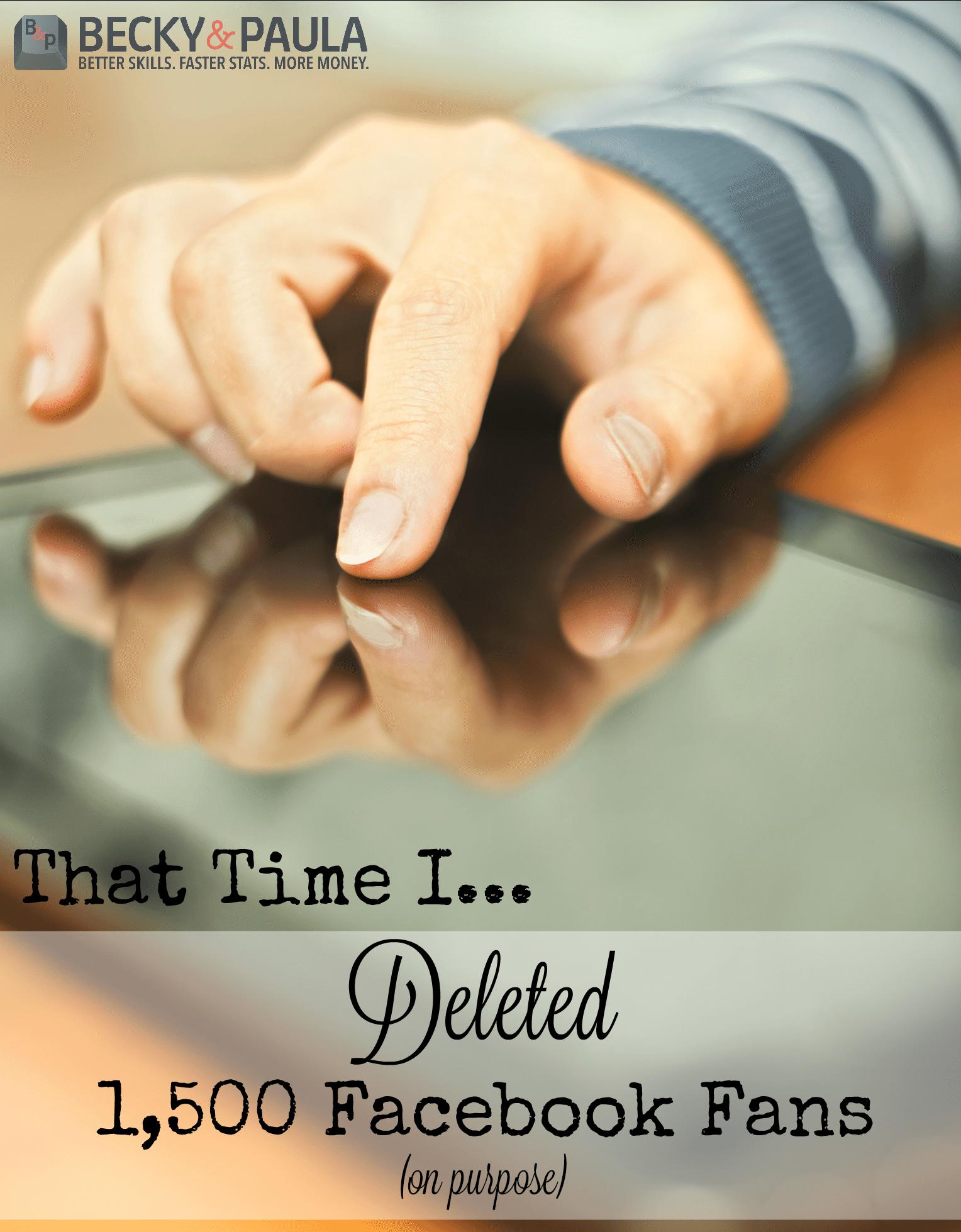 should you delete facebook fans