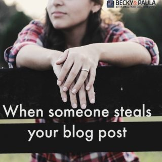When someone steals your blog post idea