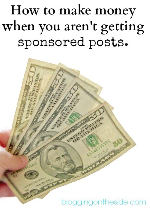 make money when you aren't being picked for sponsored posts