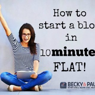 How to start a wordpress blog quickly (in 10 minutes)