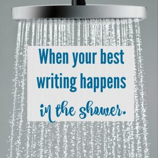writing in the shower
