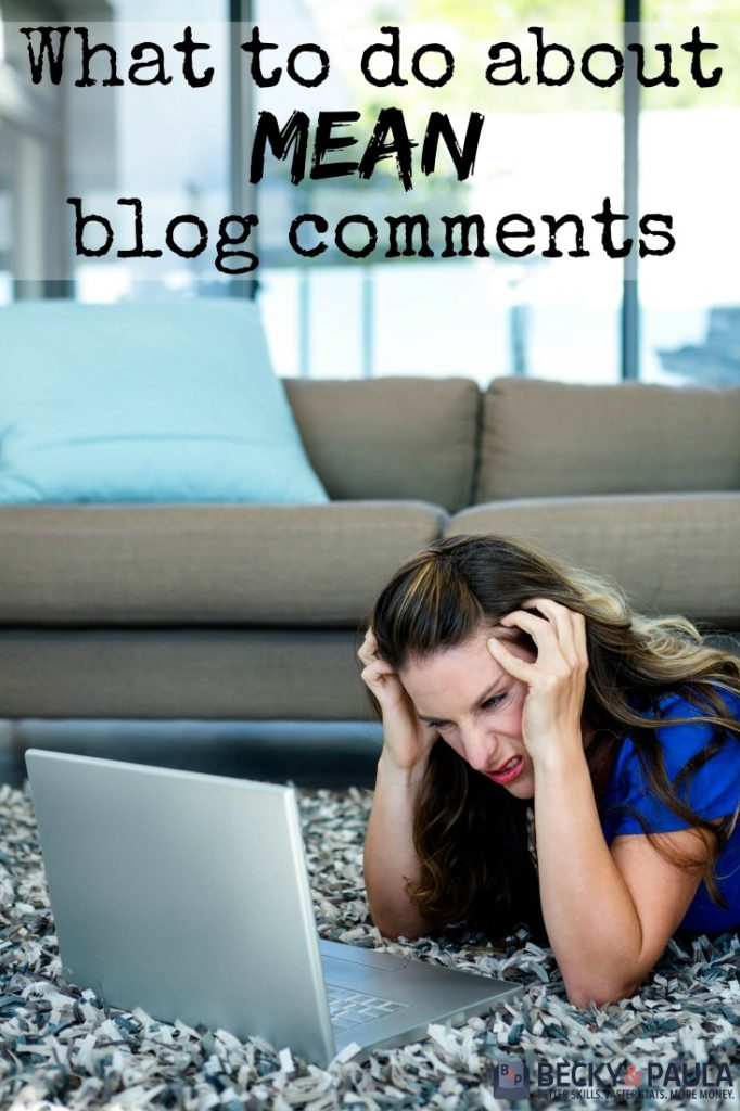 what to do about mean blog comments