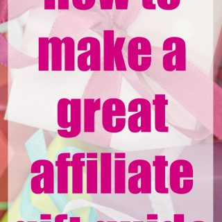 How to make an affiliate round up or gift guide